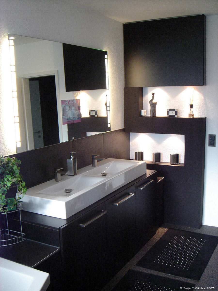 carrelage salle de bain moderne. Black Bedroom Furniture Sets. Home Design Ideas